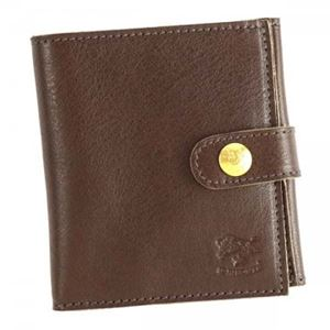 IL BISONTE(イル ビゾンテ) 二つ折り財布(小銭入れ付)  C0955 455 DARK BROWN - 拡大画像
