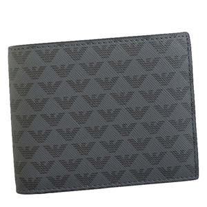 EMPORIO ARMANI(エンポリオアルマーニ) 2つ折小銭付き財布 Y4R065 81072 BLACK