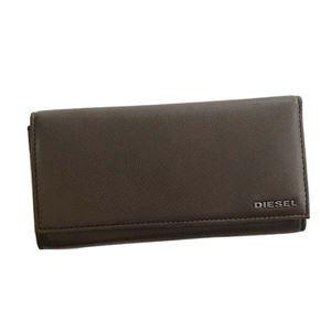 DIESEL(ディーゼル) 長財布 X04457 H6607 BROWN/FREESIA YELLOW