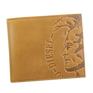 DIESEL(ディーゼル) 2つ折小銭付き財布 X04763 T2278 GOLDEN BROWN