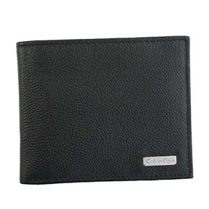 Calvin Klein(カルバンクライン) 2つ折小銭付き財布 79215 BLK BLACK - 拡大画像