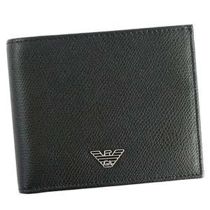 EMPORIO ARMANI(エンポリオアルマーニ) 2つ折小銭付き財布 YEM122 81072 BLACK