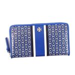 TORY BURCH(トリーバーチ) ラウンド長財布 34401 455 JEWEL BLUE GEMINI LINK STRIPE - SLG