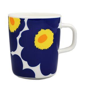 marimekko(マリメッコ) マグカップ 63431 2 WHITE/DARK BLUE/YELLOW
