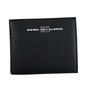 DIESEL(ディーゼル) 2つ折小銭付き財布 X05590 H2691 BLACK/FIERY RED - 拡大画像
