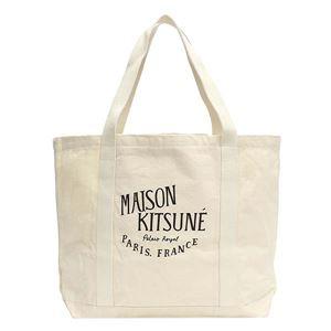 MAISON KITSUNE(メゾンキツネ) トートバッグ  AU05100WW0008 ECBK ECRU BLACK - 拡大画像