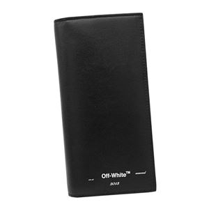 OFF-WHITE(オフホワイト) 長財布  OMNC011R20853021 1001 BLACK WHITE - 拡大画像