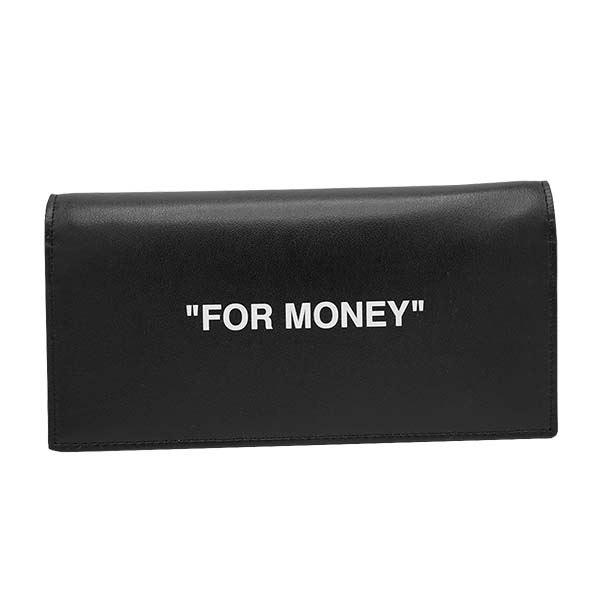 OFF-WHITE(オフホワイト) 長財布  OMNC011R20853038 1001 BLACK WHITE