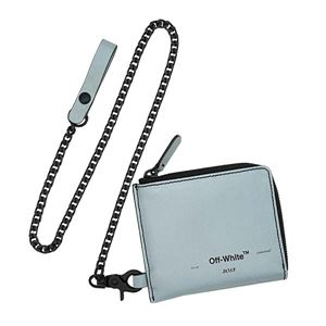 OFF-WHITE(オフホワイト) チェーンウォレット  OMNC013R20G82021 9110 SILVER BLACK - 拡大画像