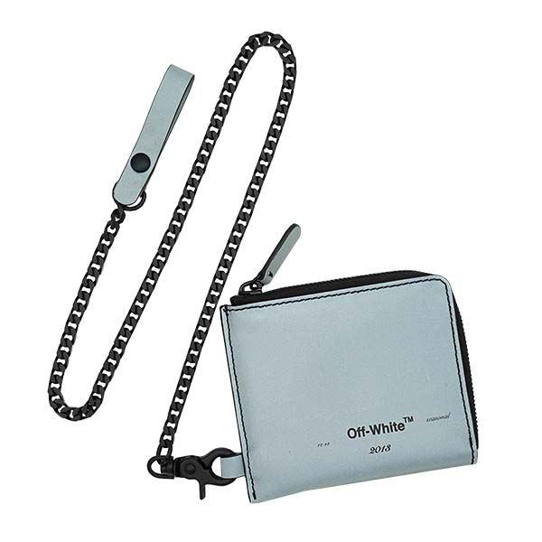 OFF-WHITE(オフホワイト) チェーンウォレット  OMNC013R20G82021 9110 SILVER BLACK