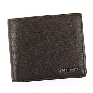 DIESEL(ディーゼル) 二つ折り財布(小銭入れ付) X04459 H6252 BROWN/ACID GREEN/WHITE - 拡大画像
