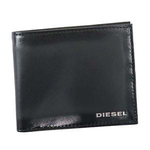 DIESEL(ディーゼル) 二つ折り財布(小銭入れ付)  X04750 T8013 BLACK - 拡大画像
