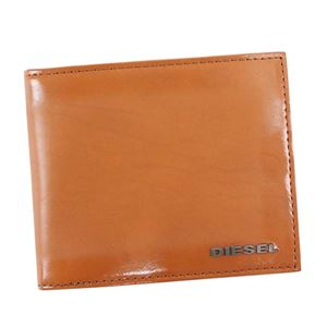 DIESEL(ディーゼル) 二つ折り財布(小銭入れ付)  X04750 T2335 CARAME CAF - 拡大画像