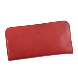 IL BISONTE(イルビゾンテ) L字ファスナー長財布  C0909 245 RUBY RED