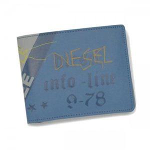 DIESEL(ディーゼル) 二つ折り財布(小銭入れ付) MONEY-MONEY XL58 H2930 ライトブルー H10×W12.5×D1.5 - 拡大画像