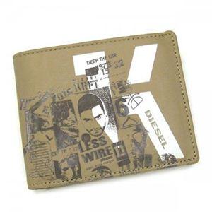 DIESEL(ディーゼル) 二つ折り財布(小銭入れ付) MONEY-MONEY XL59 H2927 ブラウン/ダークブラウン H10×W12.5×D2.5 - 拡大画像