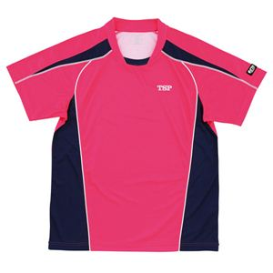 ヤマト卓球 デファンスシャツ 30265 ピンク O (卓球用品/卓球シャツ/ユニフォーム/ゲームシャツ/TSP) - 拡大画像