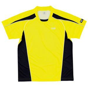 ヤマト卓球 デファンスシャツ 30265 イエロー O (卓球用品/卓球シャツ/ユニフォーム/ゲームシャツ/TSP) - 拡大画像