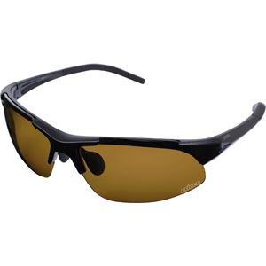 グローブライド Prince(プリンス) メラニン偏光レンズ付きサングラス PSU333 ブラック - 拡大画像
