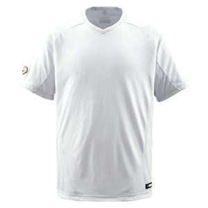 デサント(DESCENTE) ジュニアベースボールシャツ(Vネック) (野球) JDB202 Sホワイト 160 - 拡大画像