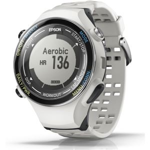 エプソン(EPSON) GPS機能・脈拍計測機能・活動量計機能搭載 Wristable GPSウォッチ SF850PC クールホワイト - 拡大画像
