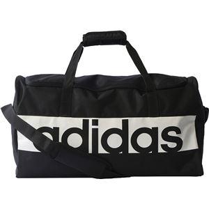 adidas(アディダス) リニアロゴチームバッグ M カラー:ブラック/ブラック/ホワイト サイズ:M