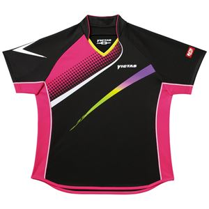 ヤマト卓球 VICTAS(ヴィクタス) 卓球アパレル V-LS029 Viscotecs ゲームシャツ(女子用) 031457 ブラック Sサイズ