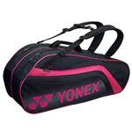 Yonex(ヨネックス) TOURNAMENT SERIES ラケットバック6 リュック付き(ラケット6本用) ブラック×ピンク BAG1812R
