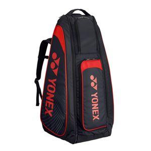 Yonex(ヨネックス) TOURNAMENT SERIES スタンドバッグ リュック付(テニスラケット2本用) ブラック×レッド BAG1819