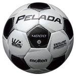 モルテン(Molten) サッカーボール4号球 ペレーダ4000 シャンパンシルバー×メタリックブラック F4P4000