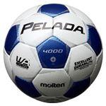 モルテン(Molten) サッカーボール4号球 ペレーダ4000 シャンパンシルバー×メタリックブルー F4P4000WB