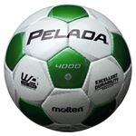 モルテン(Molten) サッカーボール4号球 ペレーダ4000 シャンパンシルバー×メタリックグリーン F4P4000WG