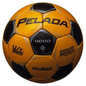 モルテン(Molten) サッカーボール4号球 ペレーダ4000 メタリックイエロー×メタリックブラック F4P4000YK - 拡大画像