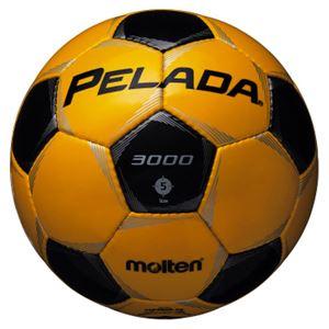 モルテン(Molten) サッカーボール5号球 ペレーダ3000 メタリックイエロー×メタリックブラック F5P3000YK - 拡大画像