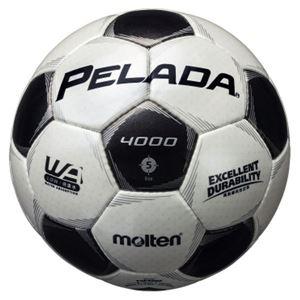 モルテン(Molten) サッカーボール5号球 ペレーダ4000 シャンパンシルバー×メタリックブラック F5P4000 - 拡大画像