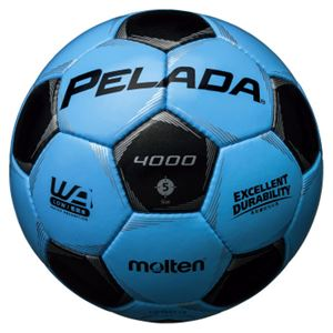 モルテン(Molten) サッカーボール5号球 ペレーダ4000 サックスブルー×メタリックブラック F5P4000CK - 拡大画像