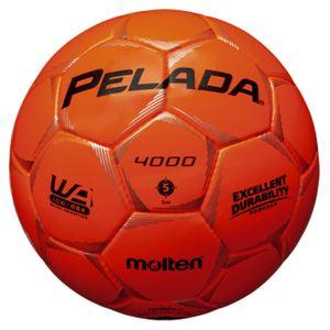 モルテン(Molten) サッカーボール5号球 ペレーダ4000 蛍光オレンジ F5P4000O - 拡大画像