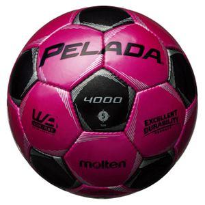 モルテン(Molten) サッカーボール5号球 ペレーダ4000 マジェンタピンク×メタリックブラック F5P4000PK - 拡大画像