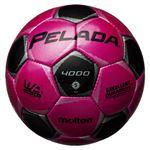 モルテン(Molten) サッカーボール5号球 ペレーダ4000 マジェンタピンク×メタリックブラック F5P4000PK