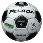 モルテン(Molten) サッカーボール5号球 ペレーダ5000芝用 スノーホワイト×メタリックブラック F5P5000