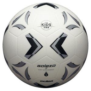 モルテン(Molten) ソフトサッカーボール3号球相当 ゴラッソ ソフトサッカー ホワイト×ブラック×シルバー SS3XGW - 拡大画像