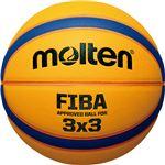 【モルテン Molten】 3×3専用バスケットボール 【直径6号 重さ7号相当】 人工皮革 『リベルトリア5000』 〔運動 スポーツ用品〕