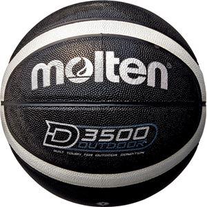 モルテン(Molten) アウトドアバスケットボール7号球(ブラック×シルバー) B7D3500KS - 拡大画像