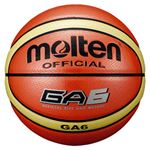 【モルテン Molten】 バスケットボール 【6号球】 オレンジ 人工皮革 BGA6 〔運動 スポーツ用品〕