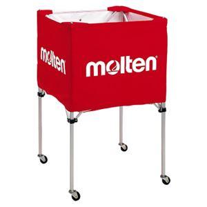 モルテン(Molten) 折りたたみ式ボールカゴ(中・背高 屋内用) 赤 BK20HR