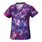 ニッタク(Nittaku) 卓球アパレル SKYCRYSTAL SHIRT(スカイクリスタルシャツ) ゲームシャツ(女子用) NW2168 パープル XO