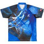 ニッタク(Nittaku) 卓球アパレル CLOUDER SHIRT(クラウダーシャツ)ゲームシャツ(男女兼用・ジュニアサイズ対応) NW2177 ブルー J130