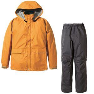 PUROMONTE(プロモンテ) Rain Wear ゴアテックス レインスーツ Men's SR135M オレンジ×チャコール XL - 拡大画像