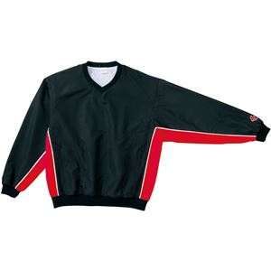 CONVERSE(コンバース) Vネックウォームアップジャケット ブラック×レッド L