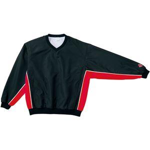 CONVERSE(コンバース) Vネックウォームアップジャケット ブラック×レッド XO - 拡大画像